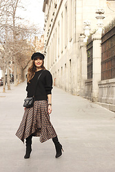 Besugarandspice FV - Zara Skirt, Givenchy Bag, Mango Boots - Midi Skirt With Geometrical Print