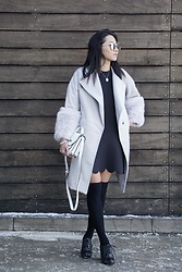 Jeannie Y - Jeffrey Campbell Shoes Booties, Mackage Sidebag, Popjulia Coat - Mellow tones