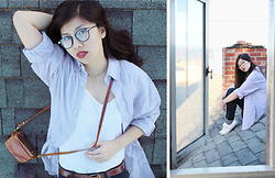 Dana Nguyen - Gap Button Up, Mudd T Shirt, Dl 1961 Jeggings, Forever 21 Sneakers - Risky Business