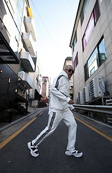 INWON LEE - Byther Black Stripe Line White Hoodie, Byther Black Stripe Line White Pants, Byther White Jogger Shoes - Let's Go