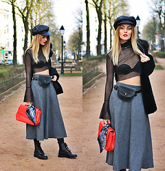 Ruxandra Ioana - Zaful Top, Zaful Belt Bag, Luz Accessories Necklace, Manfield Boots - Soldier of Love