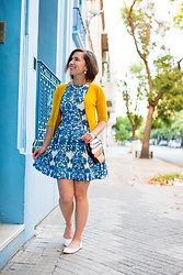 Lindsey Puls - Closet London Dress, Modcloth Cardigan, Shein Ice Cream Cone Purse - Reusing the Clothes Already in My Closet