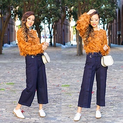 Sasa Zoe - Only $17 Fringe Top, Wide Leg Jeans, Loafers, Earrings, Bag - SPRING FRINGE