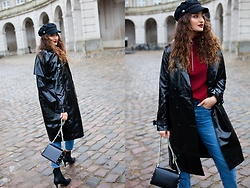 Ranim H. - Asos Vinyl Coat, Jimmy Choo Bag - It's just a little Rush