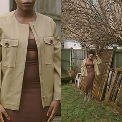 Enny Odeniyi - Mango Ruched Sleeve Jacket, Oh Polly Brown Co Ord - Minimal mood