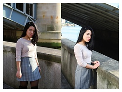 Thuy Pham - Forever 21 Sweater, Tobi Plaid Skirts - Plaid skirts
