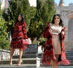 ManueLita - Ainea Coat, Sweet Years Bag, Miu Shoes, Zara Shirt, Elisabetta Franchi Skirt - Rosso San Valentino, rosso Sweet Years