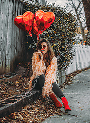 Indiefoxx - Pretty Attitude Jacket, Topshop Jeans, Aldo Boots - Heart You
