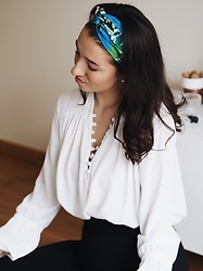 Mirella T. - Zara Culottes, Zara Blouse, Zara Headband - When spring arrives