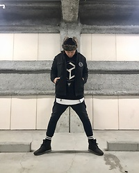 ★masaki★ - H&M Flight Cap, Mishka Death In June, Long Clothing Sweater, Odyn Vovk Dropcrotch, Puma Husseinchalayan - Death In June