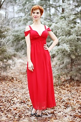 Bleu Avenue Ofbleuavenue - Hodoyi Red Special Occasion Dress - Cardinal in Winter