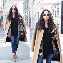 Attalia DASBEL - Zara Camel Coat, Julio Blazer, Zara Booties - CAMEL VS PLAID