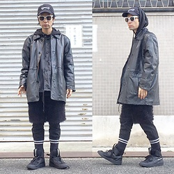 @KiD - (K)Ollaps Shoegaze, Leather Jacket, Toga Nylon Jacket, Anzevino Getty Moko Moko, Puma Mcq - JapaneseTrash313