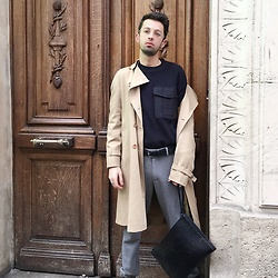 JeanbonBeurre - Marella Trench, Zara Bag, Uniqlo Pants, Pull & Bear Sweater - PFW