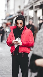 JeanbonBeurre - New Look Outerwear, Pull & Bear Bag, Zara Pants, Topman Sweater, Muzik Eyewear Sunglasses - Paris Fashion Week