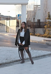 Claudia Villanueva - Zara Jacket, Zara Sweater, Romwe Skirt, H&M Bag, Zara Boots - A smart mini skirt