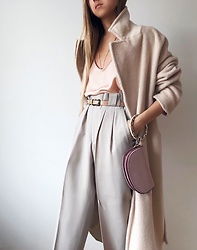 Da Li - Nelly Coat, Zara Bag - Boyfriend's pants