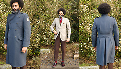 Dualleh Abdulrahman - No Brand Dutch Army Coat, Roy Robson Diy Blazer - Made to measure