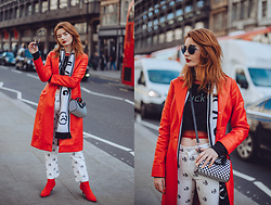 Hannah Louise -  - Red Leather Coat