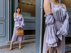 Aien Jamir - Forever 21 Off The Shoulder Top, Gaimo Espadrilles Wedges - Pastels, anyone?