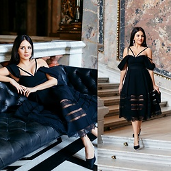 Edisa Shahini - Self Portrait Dress, Christian Dior Shoes - BLACK