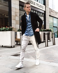 Dbrodovski - G Star Raw Shirt, New Look Coat, H&M Pants, Adidas Shoes - Cold Sunday with sunshine*
