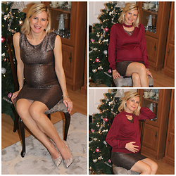 Małgorzata Miłosz - Kappahl Dress, Camaieu Sweater With Choker - Pregnancy carnival outfit