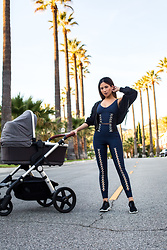 Jessi Malay - Jonathan Simkhai X Carbon38 Lace Up Bra, Jonathan Simkhai X Carbon38 Lace Up Corset Legging, & Other Stories Zip Up Hoodie, Kendall + Kylie Brandy Sneakers - Athleisure: Jonathan Simkhai X Carbon38