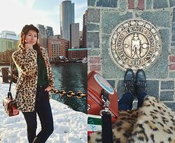 Arina V. - Topshop Coat, Braccialini Bag, Stradivarius Boots - This winter in Boston