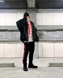 ★masaki★ - (K)Ollaps New Wave, Rothco 8xl Bomber, Obey Bad Brains, H&M Track Pants, Nike Air Jordan1 - BAD BRAINS