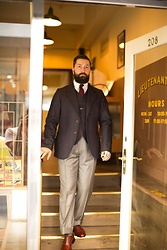 Jared Acquaro - Dappers Denim Jacket, Zegna Wool Trouser, Wildsmith Sloane Brogues - Lieutenant & Co
