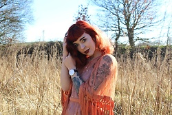 Jessica Gutteridge - Caris Closet Gypsy Boho Tassel Dress - Pre Summer Vibes