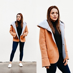 Priscilla Eslo - Shein Coat - Hooded coat