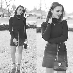 Carina Gonçalves - Zaful Skirt, Lefties Sweater, Lefties Heels - Nothing is like Black or White