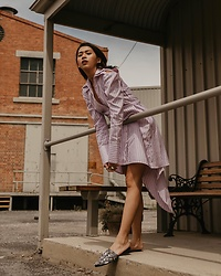 Cindy Karmoko - Patrick Owen Dress, Witchery Slip On - Romance in melbourne