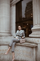 Gabriele Gzimailaite - Amazon Blazer, Valentino Bag, Zara Trousers - POWER SUIT