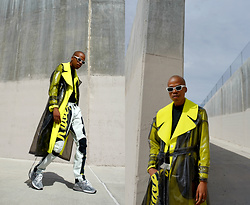 Dominic Grizzelle - Gstarraw, Asos Transparent Coat, Asos Double Breasted Neon Coat, New Balance Trainers - Follow me on IG : GRIZTRIZ