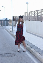 Claudia Villanueva - H&M Cap, Zara Sweater, Lefties Dress, Jeffrey Campbell Shoes Boots - When I wear red roses