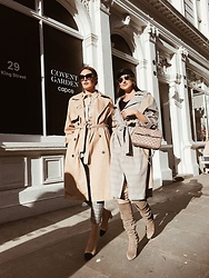 Gabriele Gzimailaite - Topshop Trench, Chanel Shoes, Stuart Weitzman Boots, Valentino Bag, Zara Trench - THE GIRLS ARE BACK IN TOWN