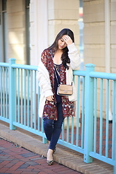 Kimberly Kong - Zara Floral Top, Amiclubwear Cream Cardigan, 5/48 Animal Print Pumps, Aeropostale Skinny Jeans, Aeropostale Tank - Why Aero Jeans are the Best + New Updates