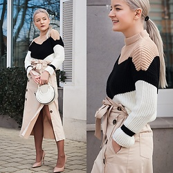 Cristina Tabun - Zaful Sweater, Zaful Skirt - Nude SAFARI