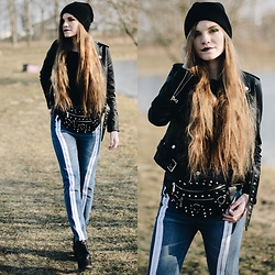 Karolina N. - Zaful Jacekt, Killstar Hexellent Waist Bag, Zaful Pants - KILLSTAR HEXELLENT.