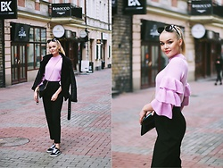 Paulina Dworakowska - Zaful Sweater, Second Hand Trousers, Vans Sneakers, Primark Jacket - ALMOST SPRING