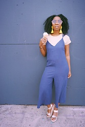 Kenesha Trenea - Jumpsuit, Target Espadrilles, Topshop Earrings - Cool off