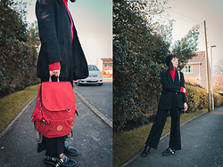 Peaches - Kipling Red Backpack - Red Kipling Backpack