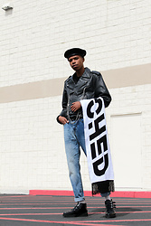 Dominic Grizzelle - Kangol Beret, Asos Text Scarf, American Eagle Outfitters Dad Jeans, T.U.K. Footwear Creepers - Casual Sundayz
