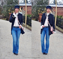 Natalia Uliasz - Rosegal Hat, Zaful Blouse, Sammydress Military Coat, Massimo Dutti Jeansy, Dresslily Bag, Deezee.Pl Boots - A great return of the trend