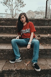 Nicole Saludar - Vans Thrasher, Lee Denim, Adidas Watch, Set Sail Suppy Co Paradise City - RED