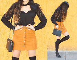 Gabirul C - Zara Top, She Inside Skirt, Michael Kors Bag - Shades of yellow