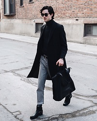 Nigel Lew - Marsell Leather Tote, Chimala Jeans, Persol Sunglasses - The Curation